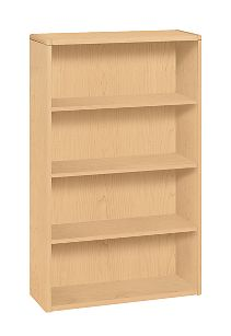HON 10700 Series 4-Shelf Bookcase Natural Maple Front Side View H10754.DD