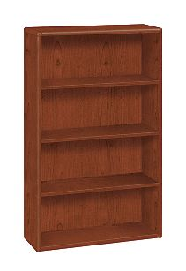 HON 10700 Series 4-Shelf Bookcase Brown Front Side View H10754.JJ