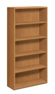 HON 10700 Series 5-Shelf Bookcase Harvest Front Side View H10755.CC