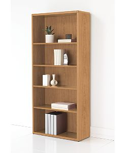 HON 10700 Series Adjustable Bookcase Harvest Front Side View H107569.CC