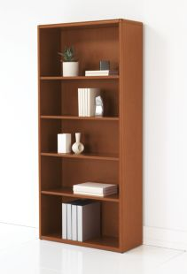 HON 10700 Series Adjustable Bookcase Brown Front Side View H107569.JJ