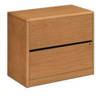 HON 10700 Series 2-Drawer Lateral File Harvest Front Side View H10762.CC
