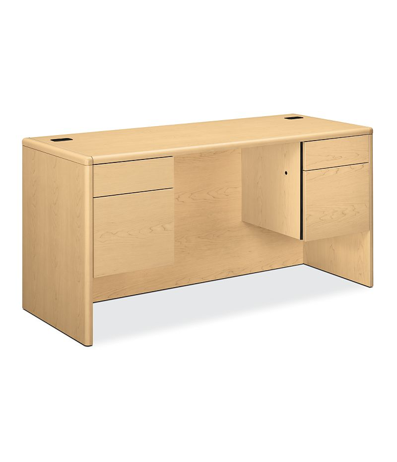 HON 10700 Series Double Credenza Natural Maple Front Side View H10765.DD