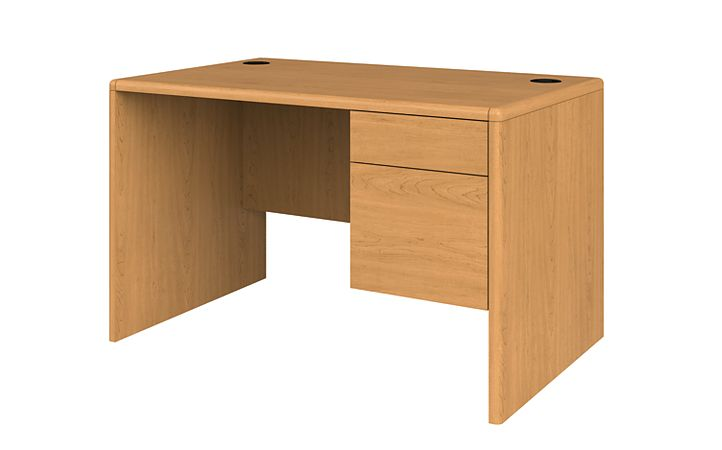 HON 10700 Series Small Office Desk Harvest Front Side View H107885R.CC