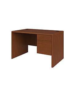 HON 10700 Series Small Office Desk Brown Front Side View H107885R.JJ