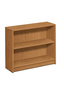 HON 1870 Series 2 Shelf Bookcase Harvest Color Front Side View H1871.C