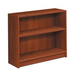 HON 1870 Series 2 Shelf Bookcase Cognac Color Front Side View H1871.COGN