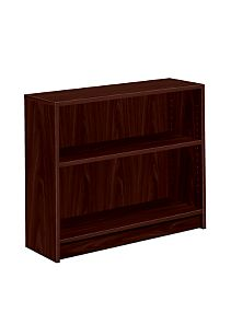 HON 1870 Series 2 Shelf Bookcase Mahogany Color Front Side View H1871.N