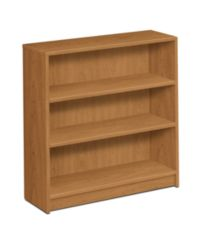 HON 1870 Series 3 Shelf Bookcase Harvest Front Side View H1872.C