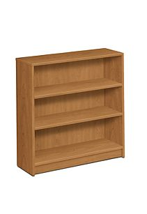 HON 1870 Series 3 Shelf Bookcase Harvest Front Side View H1872.C