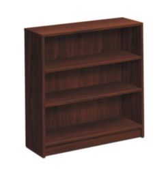 HON 1870 Series 3 Shelf Bookcase Mahogany Front Side View H1872.N