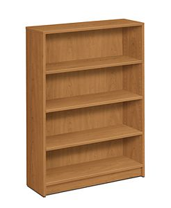 HON 1870Series 4 Shelf Bookcase Front View Harvest H1874.C