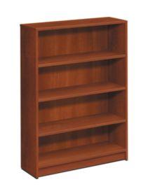 HON 1870Series 4 Shelf Bookcase Front View Cognac H1874.COGN