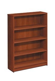 HON 1870Series 4 Shelf Bookcase Front View Cognac H1874.COGN