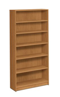 HON 1870 Series 6 Shelf Bookcase Harvest Front Side View H1876.C