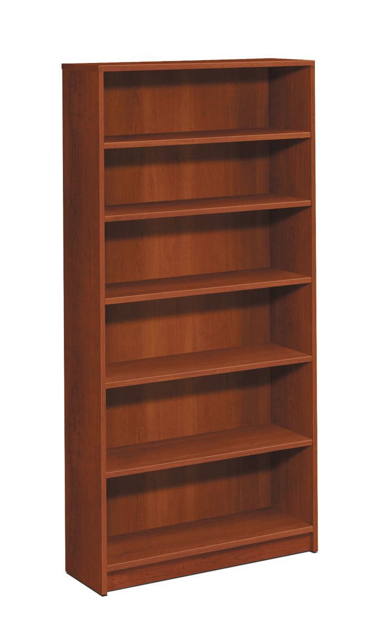 HON 1870 Series 6 Shelf Bookcase Cognac Front Side View H1876.COGN