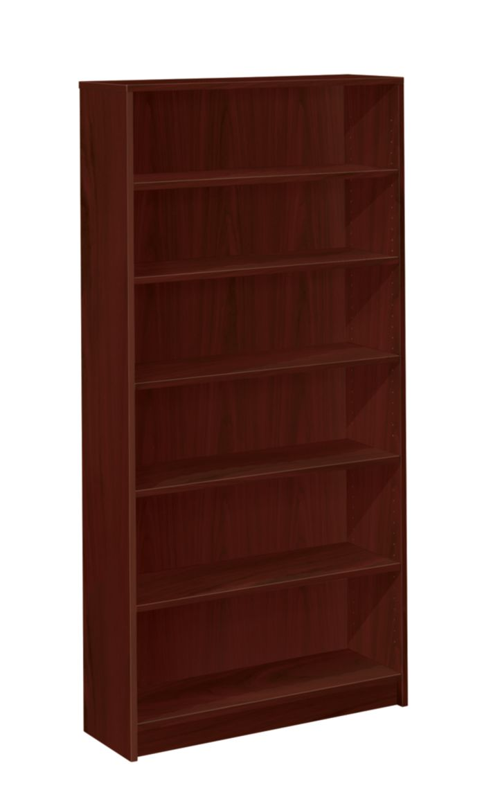 HON 1870 Series 6 Shelf Bookcase Mahogany Front Side View H1876.N