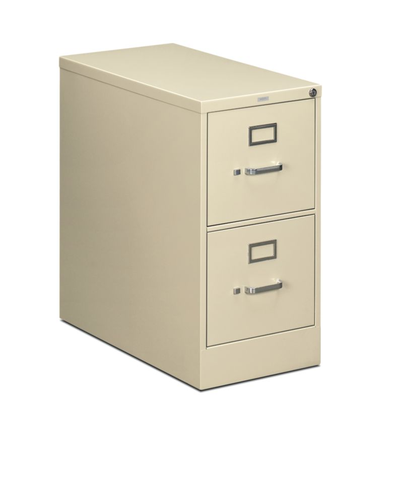 HON 210 Series 2-Drawer Vertical File Putty Front Side View H212.P.L