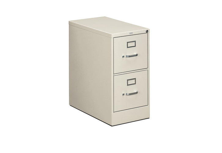 HON 310Series 2-Drawer Vertical File Light Gray Front Side View H312.P.Q