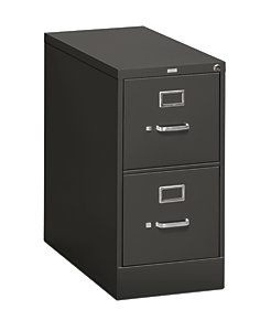 Hon Series  Drawer Vertical File Charcoal Front Side View H P S