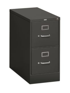 HON 310Series 2-Drawer Vertical File Charcoal Front Side View H312.P.S
