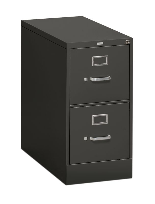 HON 310Series 2 Drawer Vertical File Charcoal Front Side View H312.P.S