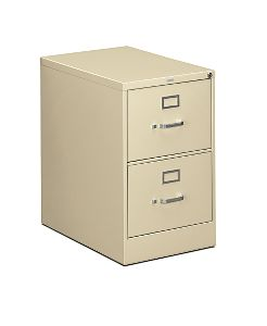 HON 310 Series 2-Drawer Vertical File Putty Front Side View H312C.P.L