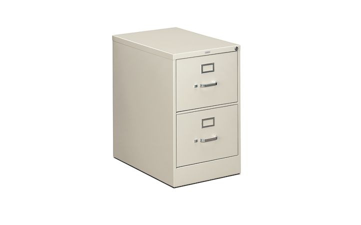 HON 310 Series 2-Drawer Vertical File Light Gray Front Side View H312C.P.Q