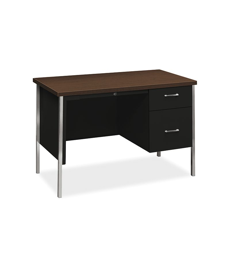 HON 34000Series Small Office Black Mocha Top Front Side View H34002R.MOCH.P