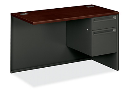 HON 38000 Series Right Return Mahogany Charcoal Front Side View H38215R.N.S