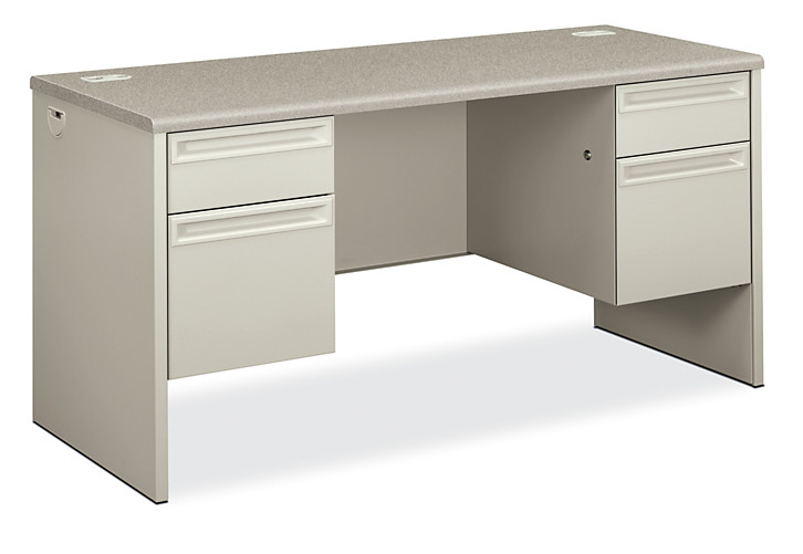 HON 3000Series Double Credenza Light Gray Front Side View H38852.G2.Q