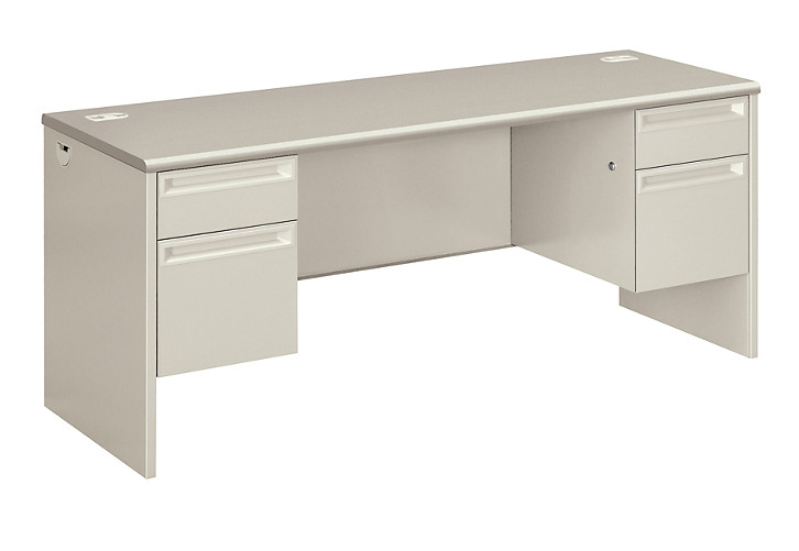 HON 38000Series Double Credenza Light Gray Front Side View H38854.G2Q