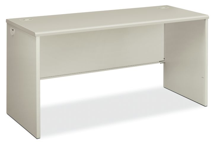HON 38000Series Desk Shell Light Gray Front Side View H38922.Q.Q