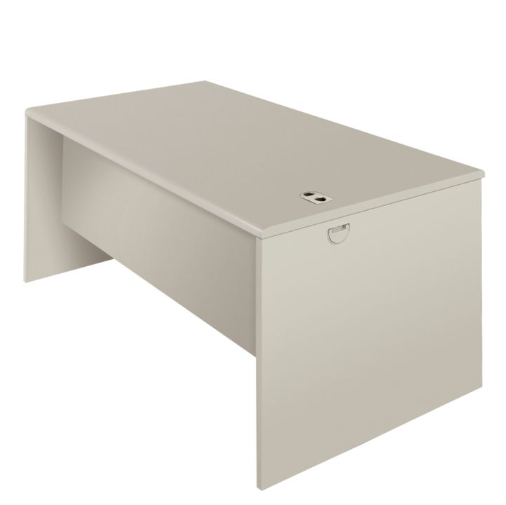 HON 38000Series Desk Shell Light GrayFront Side View H38932.G2.Q