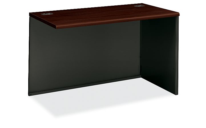 HON 38000Series Right Return Shell Charcoal Mahogany Top Front Side View H38943R.N.S