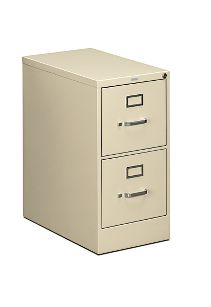 HON 510Series 2 Drawer Vertical File Putty Lock Front Side View H512.P.L