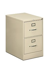 HON 510Series 2 Drawer Vertical File Putty Front Side View H512C.P.L