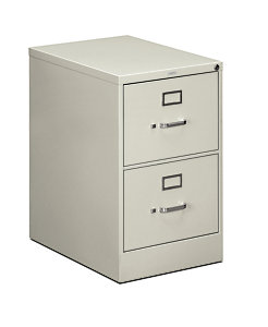 HON 510Series 2 Drawer Vertical File Light Gray Front Side View H512C.P.Q