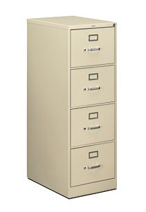 HON 510Series 4 Drawer Vertical File Putty Front Side View H514C.P.L