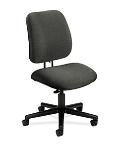 HON 7700 Series Low-Back Task Chair Confetti Gray Armless Front Side View H7701.H.AB12.T