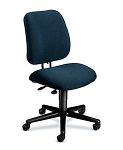 HON 7700Series Low-Back Task Stool Confetti Blue Armless Front Side View H7703.H.AB90.T
