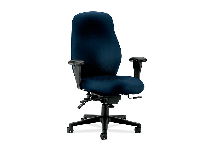HON 7800 Series High-Back Task Chair Tectonic Mariner Adjustable Arms Seat Slide Front Side View H7808.H.NT90.T