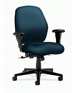 HON 7800 Series Mid-Back Task Chair Centurion Cerulean Front Side View H7823.H.CU90.T