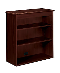HON 94000 Series Bookcase Hutch Brown Front Side View H94210.NN