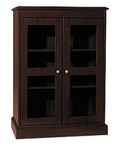 HON 94000 Series Bookcase with Glass Doors Mahogany Color Front Side View H94220.NN