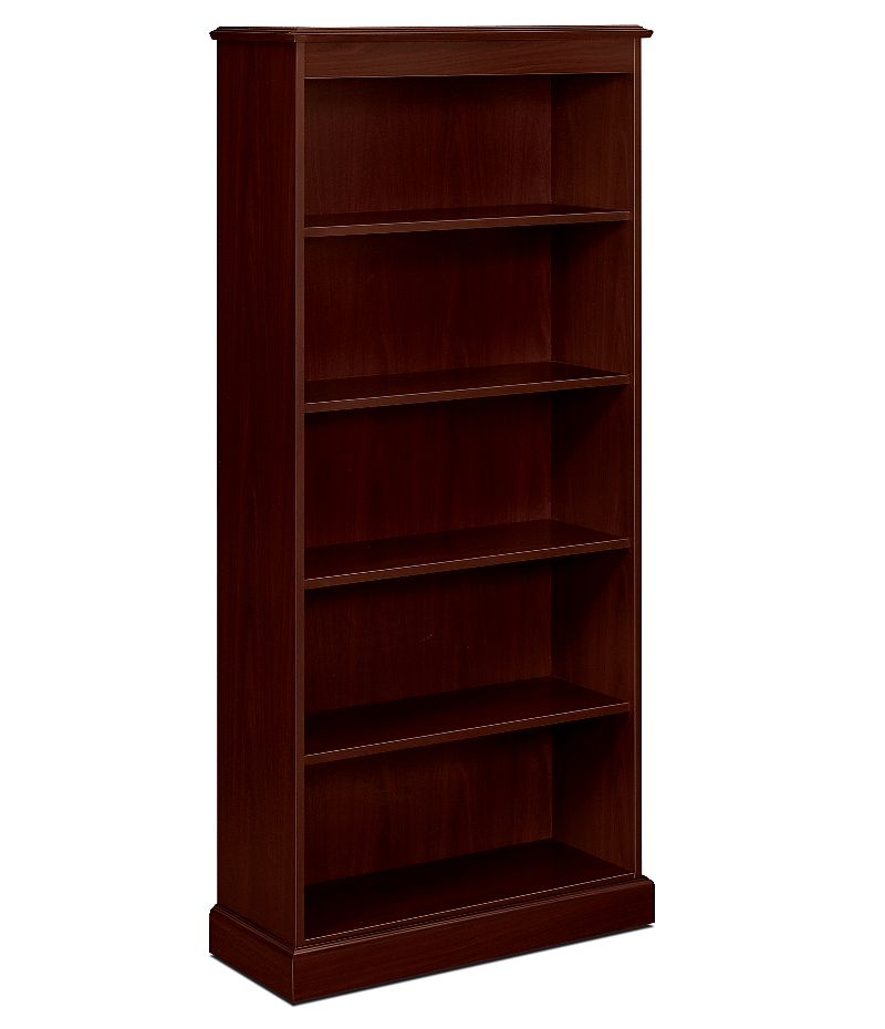 HON 94000 Series 5-Shelf Bookcase Brown Front Side View H94225.NN