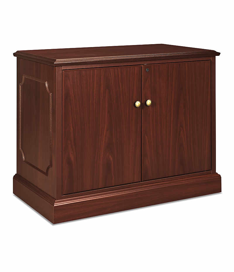 HON 94000Series Storage Cabinet Brown Front Side View H94291.NN