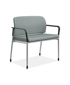 HON Accommodate Bariatric Chair Compass Tide Fixed Arms Front Side View HSB50.F.E.COMP96.P6N