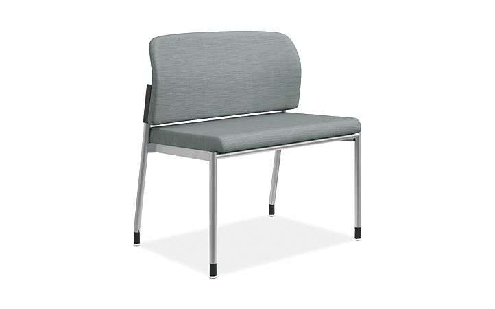 HON Accommodate Bariatric Chair Compass Tide Armless Front Side View HSB50.F.E.COMP96.P6N