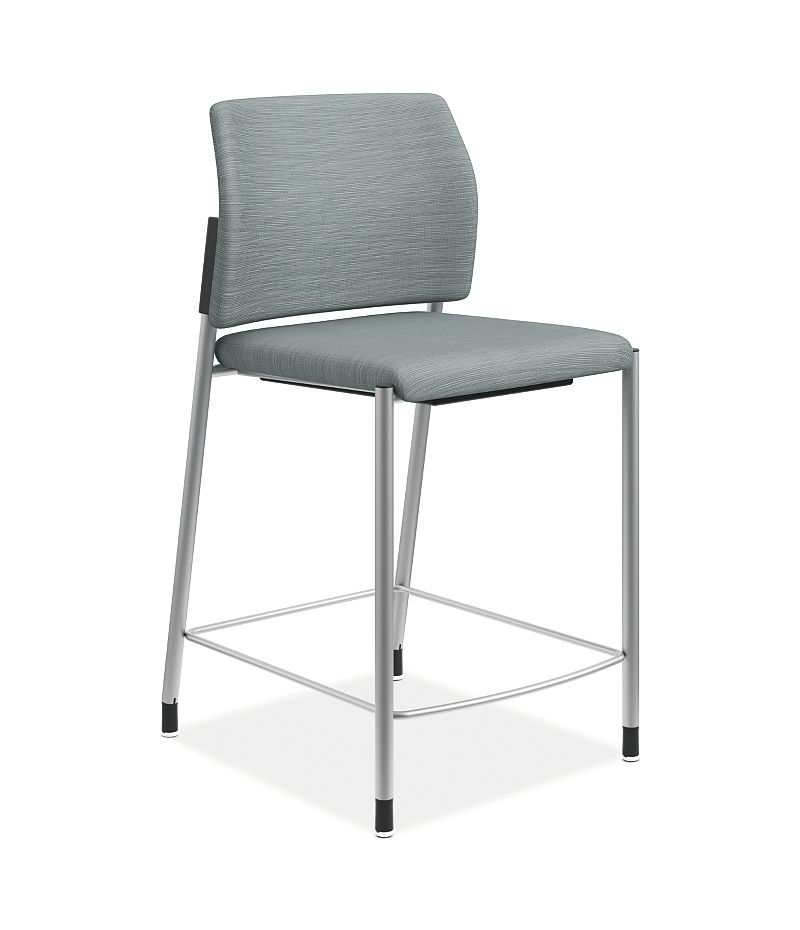 HON Accomodate Counter Height Stool Compass Tide Armless Front Side View HSCS1.N.E.COMP96.P6N